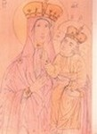 Тадулинская икона Божией Матери. Рисунок Д. Струкова.