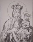 Тадулинская икона Пресвятой Богородицы. Рисунок ученицы СШ д. Вымно.