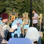 Молебен на монастырском холме на праздник Успения Пресвятой Богородицы 28 августа 2011 г.