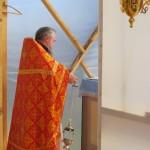Литургию совершает протоиерей Николай Коляда