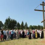 14. освящение поклонного креста, установленного местным фермером