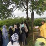 Панихида на могиле игумении Аристоклии (Маевской)