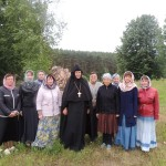 Паломники из Витебска, приехавшие в день памяти матушки Аристоклии